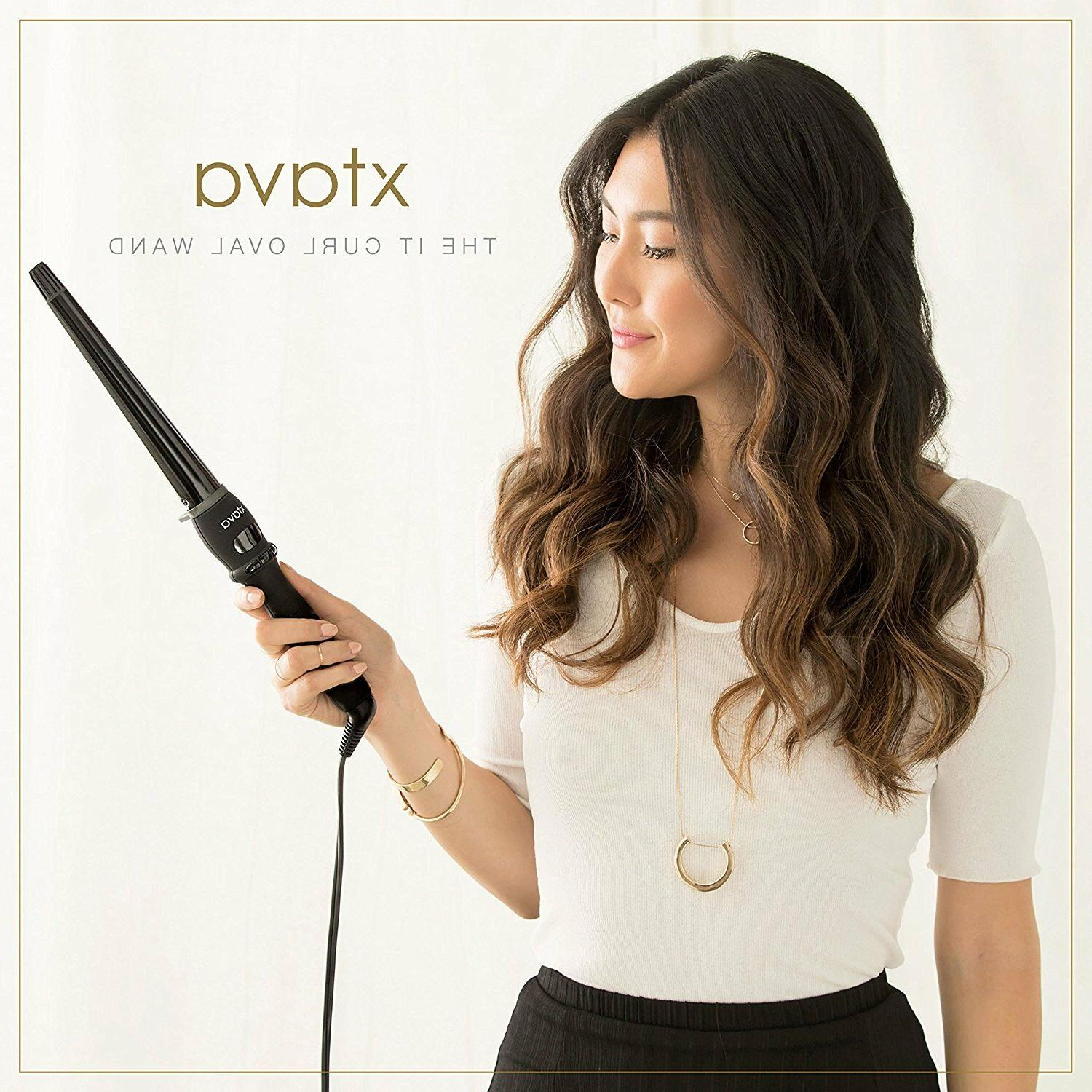 Xtava Wand Clipless Curling Wavy Hair