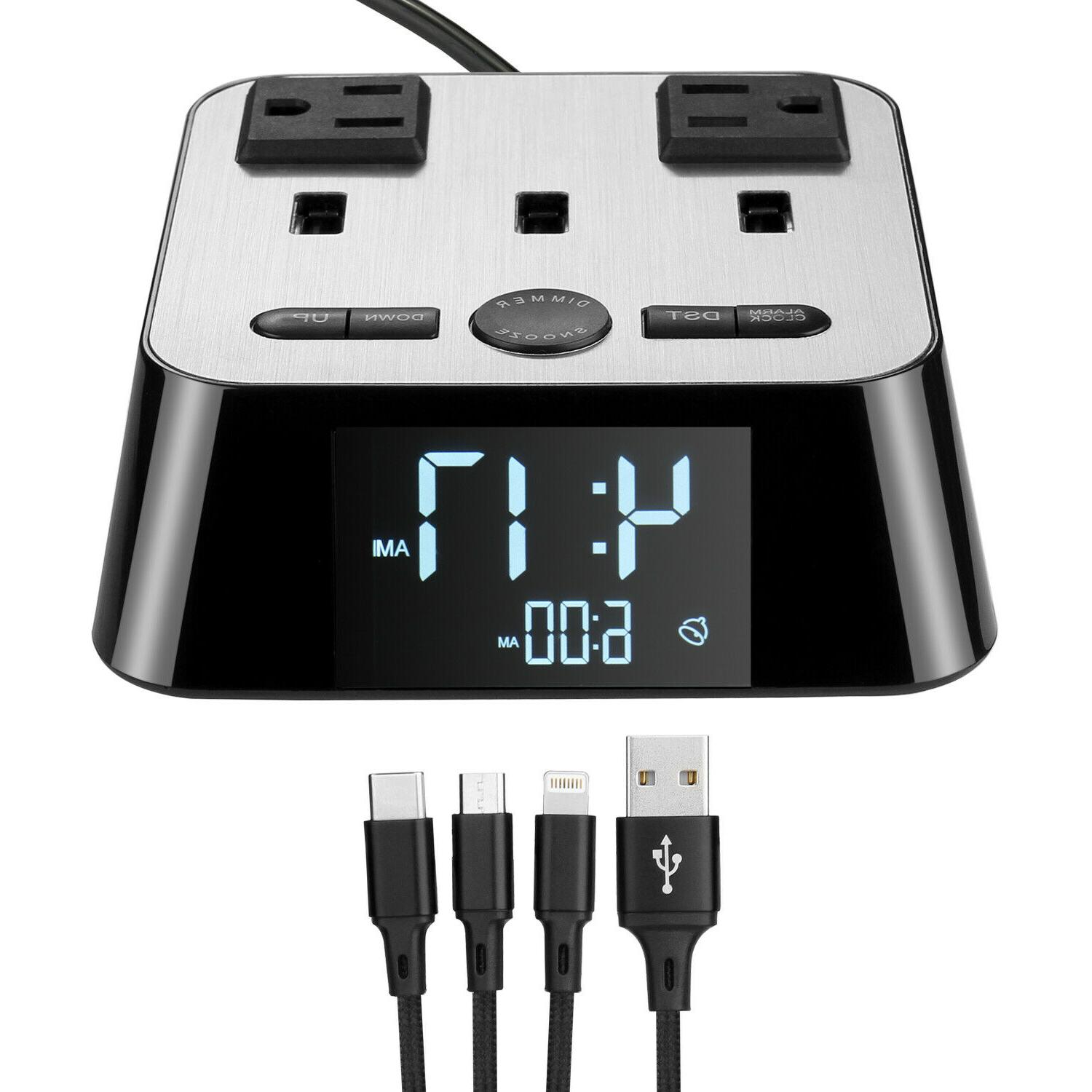 Digital Charging Station with AC Adapters for
