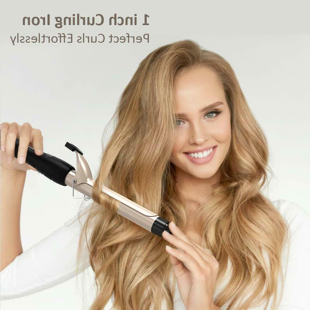 Hair Curling Wand 1 Inch, Curling with Ceramic Display,
