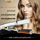 Hair Straightener Brush Straightening Curling Iron Wet To Dr