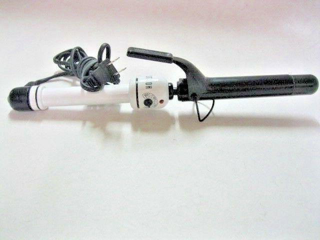 Hot Tools HTBW44 Spring Curling Iron, Black/White, 1 Inch