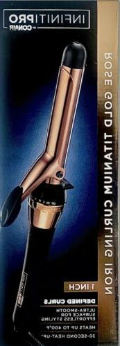 "INFINITIPRO BY CONAIR Rose Gold Titanium Curling Iron, 1"" CD"