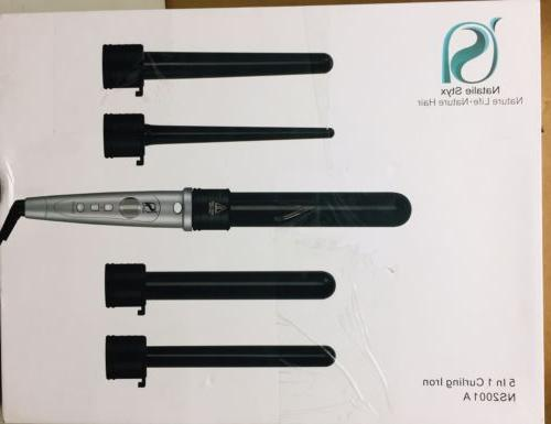 nature life natural hair 5in1 curling iron