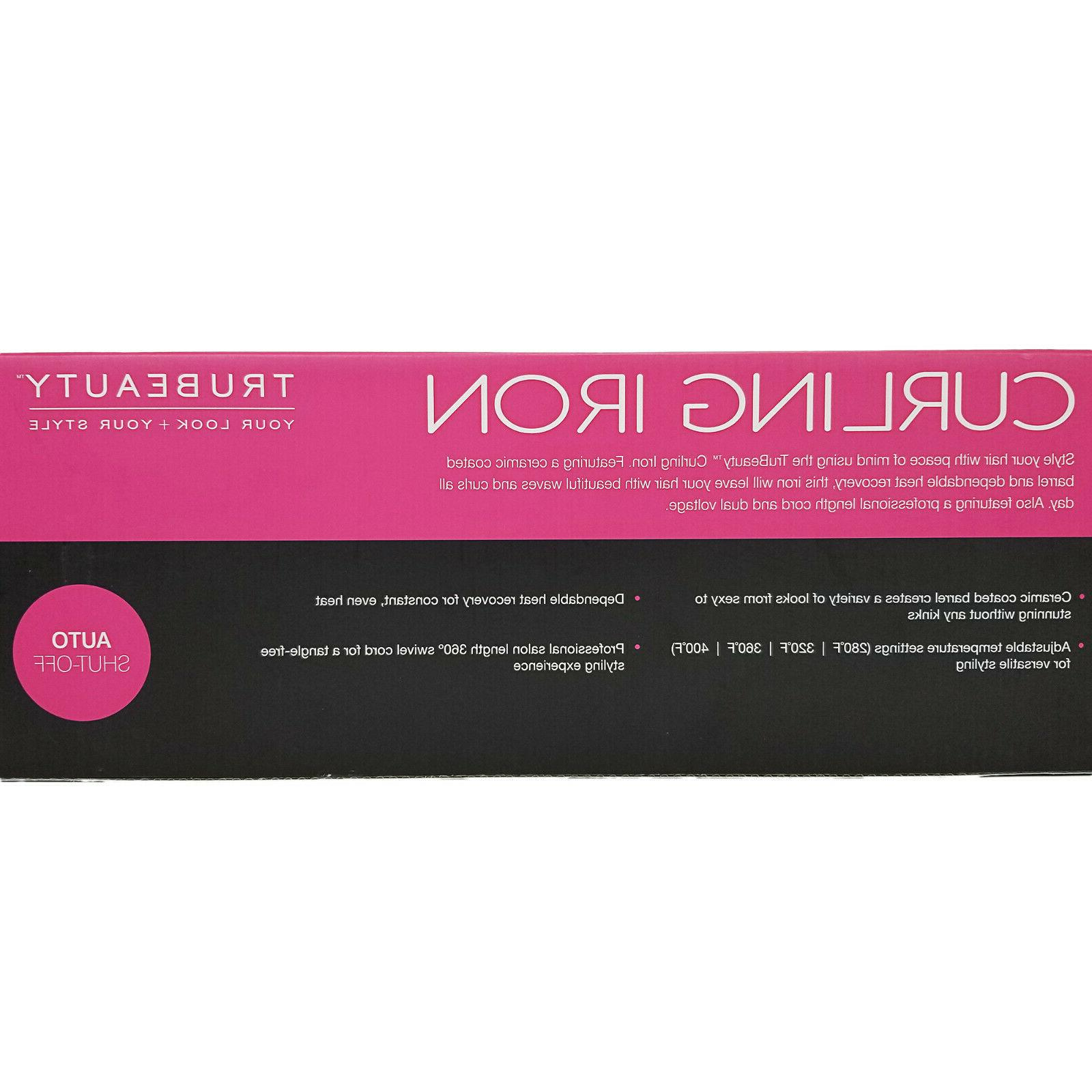 TruBeauty Curling Iron with Coated Barrel-Temp Control