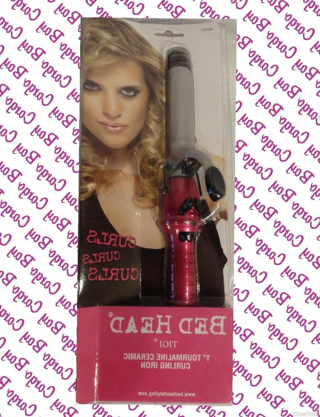 "NEW BED HEAD TIGI 1"" CERAMIC TOURMALINE CURLING IRON 1 INCH"