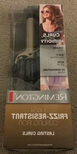 "NIB Remington 1"" Ceramic Lasting Curls Frizz Resistant Cur"