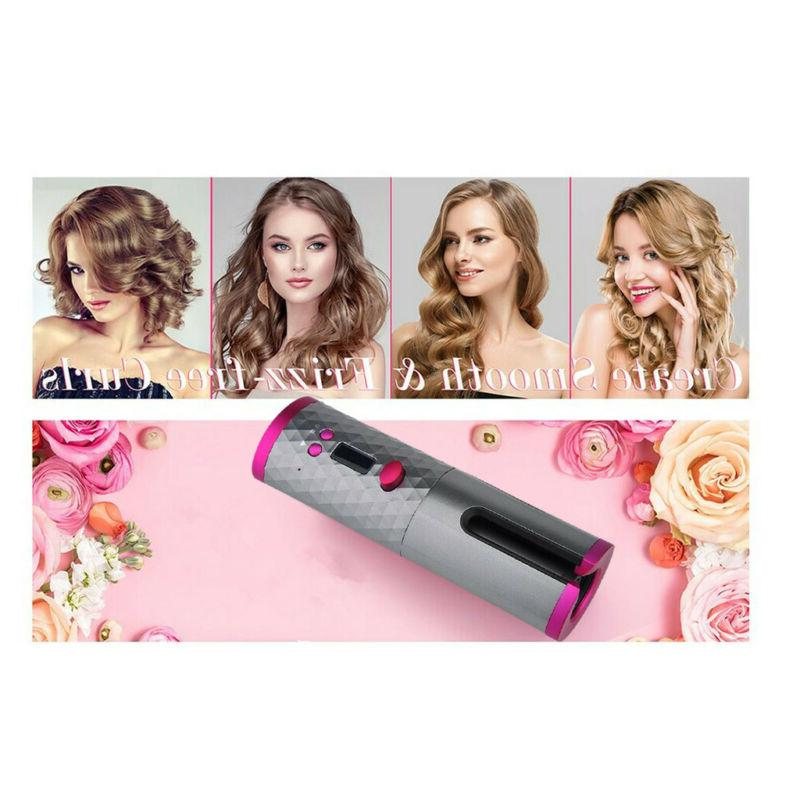 Portable Curler Hair Waver Iron LCD Display