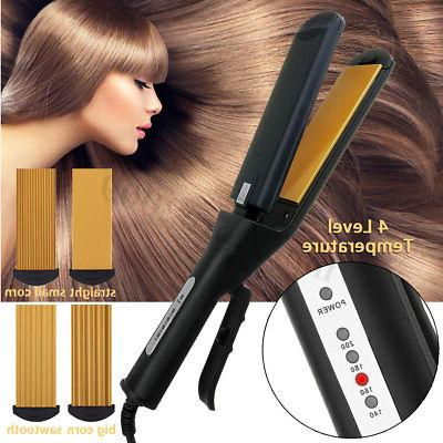 Pro 4 Replaceable Ceramic Curling Crimper Straightener ❤
