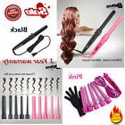 Pro 5 in1 Ceramic Hair Curling Curler Iron Wand Roller Set I