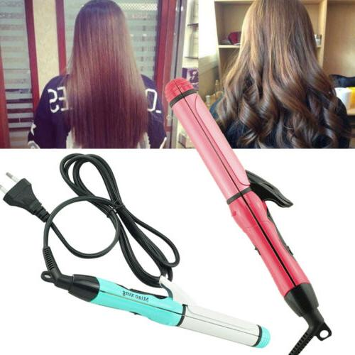 professional 2 in 1 curler and straightener