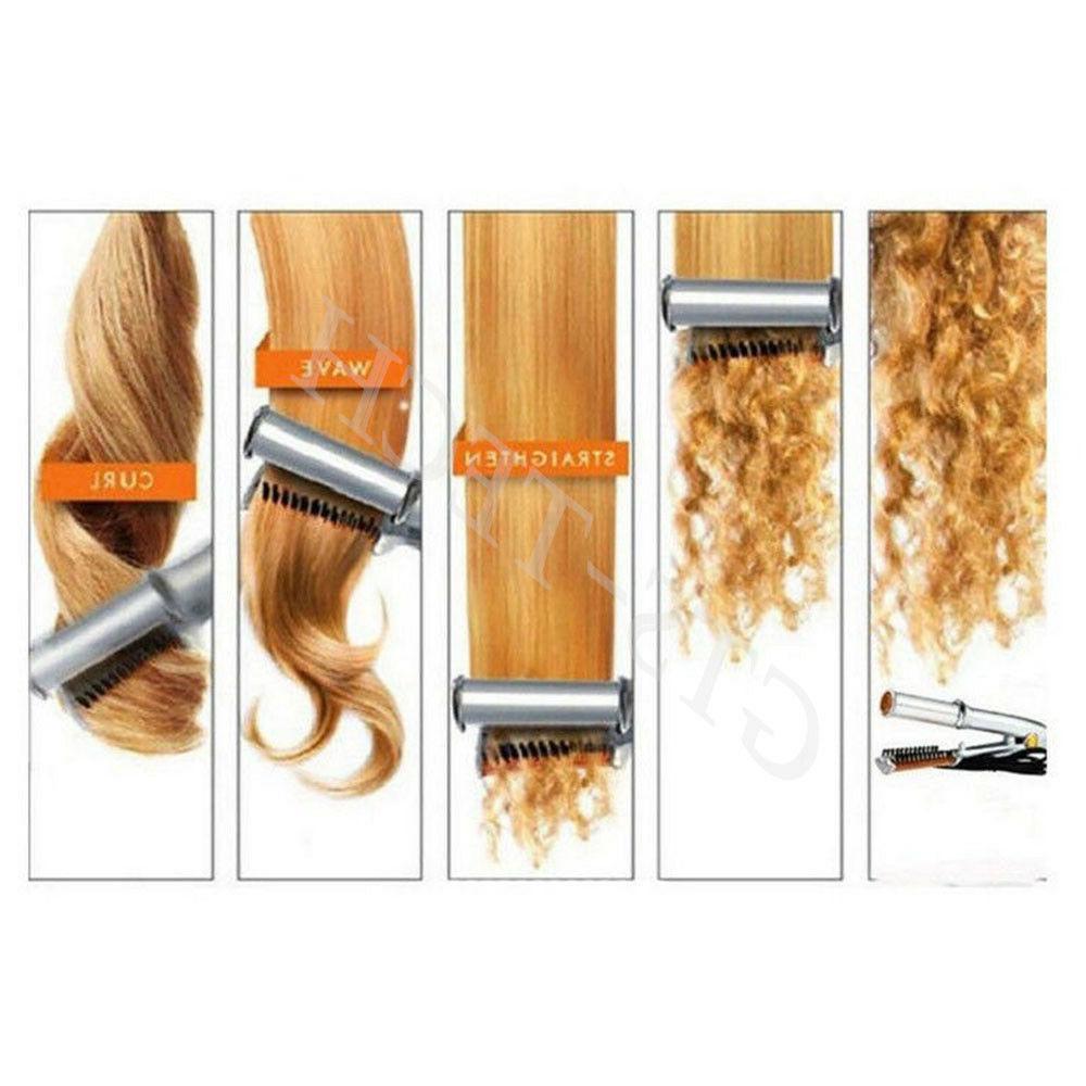 Professional 2-Way To Dry Hair Brush Straightener