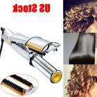 Professional 3 in 1 2-Way Rotating Curling Iron Hair Brush C