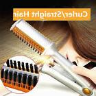 Professional 3 in 1 2Way Rotating Curling Iron Hair Brush Cu