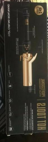 """Hot Tools Hair Curling Iron 1-1/2"""" Spring Gold"""