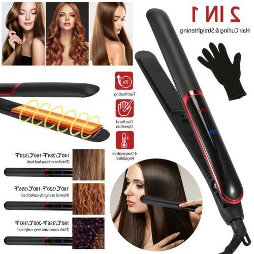 professional 2 in 1 twist hair straightener