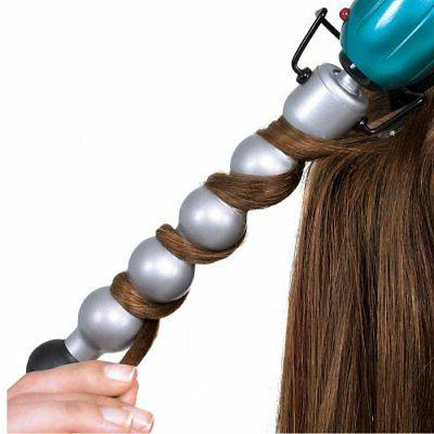 Rock n Ceramic Bubble Iron Hair Styling Teal