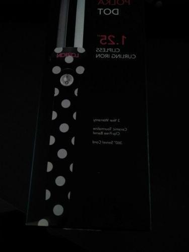 LORION Salon Grade Polka Curling Iron Black & White