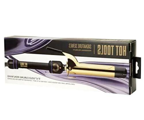 signature series gold curling iron wand 1