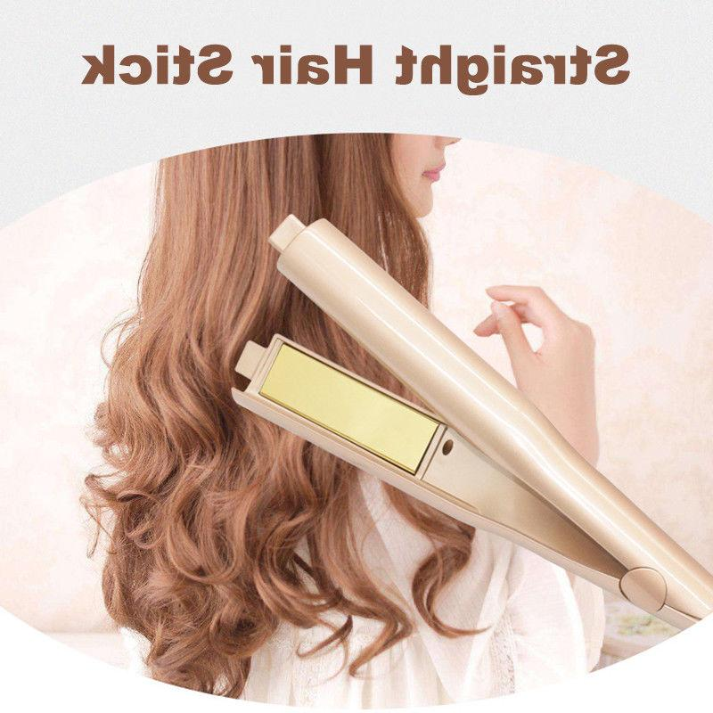 straight curly flat curling iron 2 in