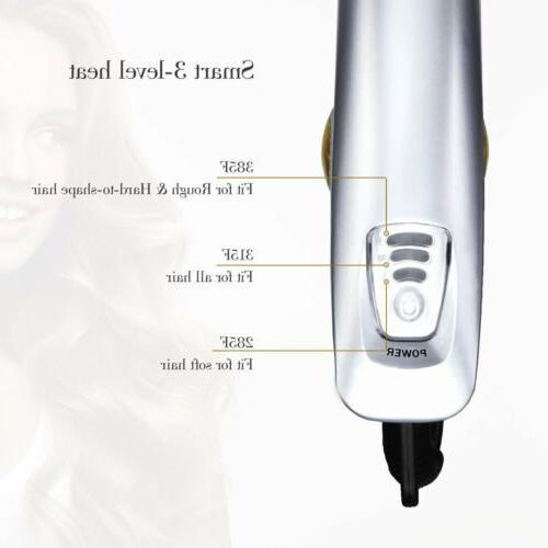 USA 3 1 Iron Hair Brush Straightener New