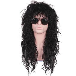 ColorGround Long Curly 80s Men Fashion Smart Rocker Style Wi