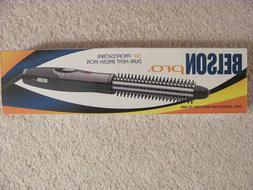 """NEW IN BOX BELSON PRO DUAL HEAT 3/4"""" PROF CURLING BRUSH IRON"""