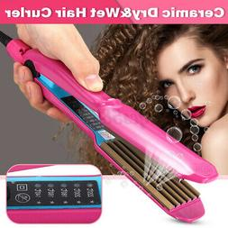 Portable Dry & Wet Ceramic Hair Curler Wand Styling Curling