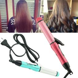 Professional 2 in 1 Curler & Straightener Hot Hair Iron Curl