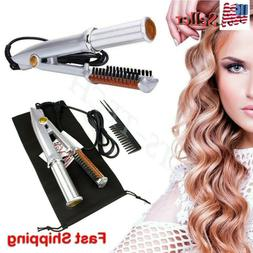 Professional 2-Way Wet To Dry Hot Rotating Iron Hair Brush C