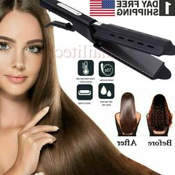 Professional 2in1 Hair Styling Tools Iron Straightener Curle