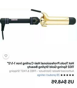 """Hot Tools Professional Hair Curling Iron 1-1/2"""" 1102 Spring"""