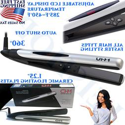 2 IN 1 PROFESSIONAL HAIR STRAIGHTENER CURLER FLAT IRON SALON
