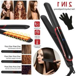 Professional 2 in 1 Twist Hair Straightener Hair Curling Str
