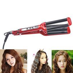 YUNAI Professional Wave Hair Roller Ceramic Curling Iron Tri