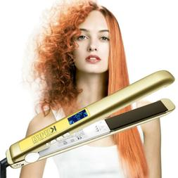 Salon 2 in 1 Straightening Flat Iron & Curling Iron Titanium