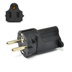 Ceptics Schuko Germany, France CEE7/7 Travel Power Plug Adap