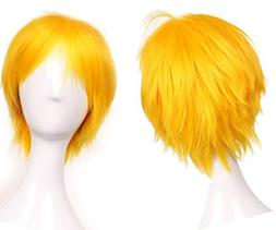S-noilite Women Men Short Straight Hair Wig Unisex Hinata Co