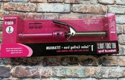 Hot Shot Tools Pink Titanium Curling Iron