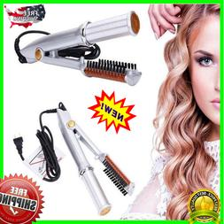 Titanium 2-Way Rotating Curling Iron - Dual-Use Straight And